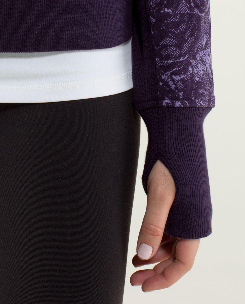 Lululemon Scuba Hoodie *Stretch (Lined Hood) - Rose Herringbone Printed Deep Zinfandel / Deep Zinfandel / Deep Zinfandel