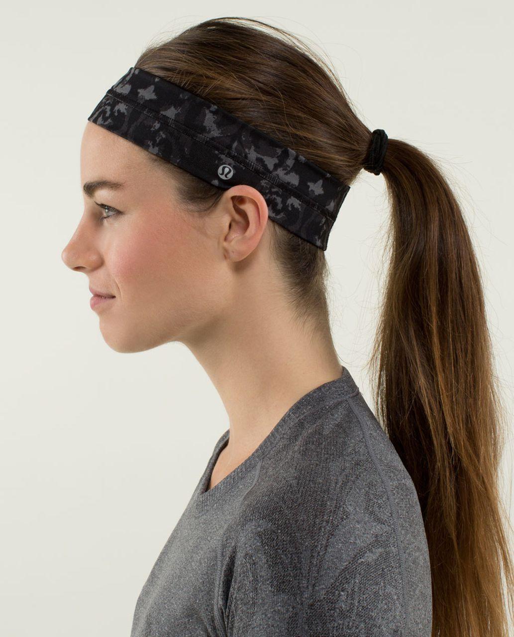 Lululemon Fly Away Tamer Headband - Beautiful Baroque Black