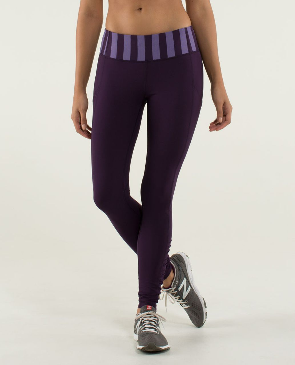 Lululemon Speed Tight *Brushed Interlock - Deep Zinfandel / Micro Macro Stripe Deep Zinfandel