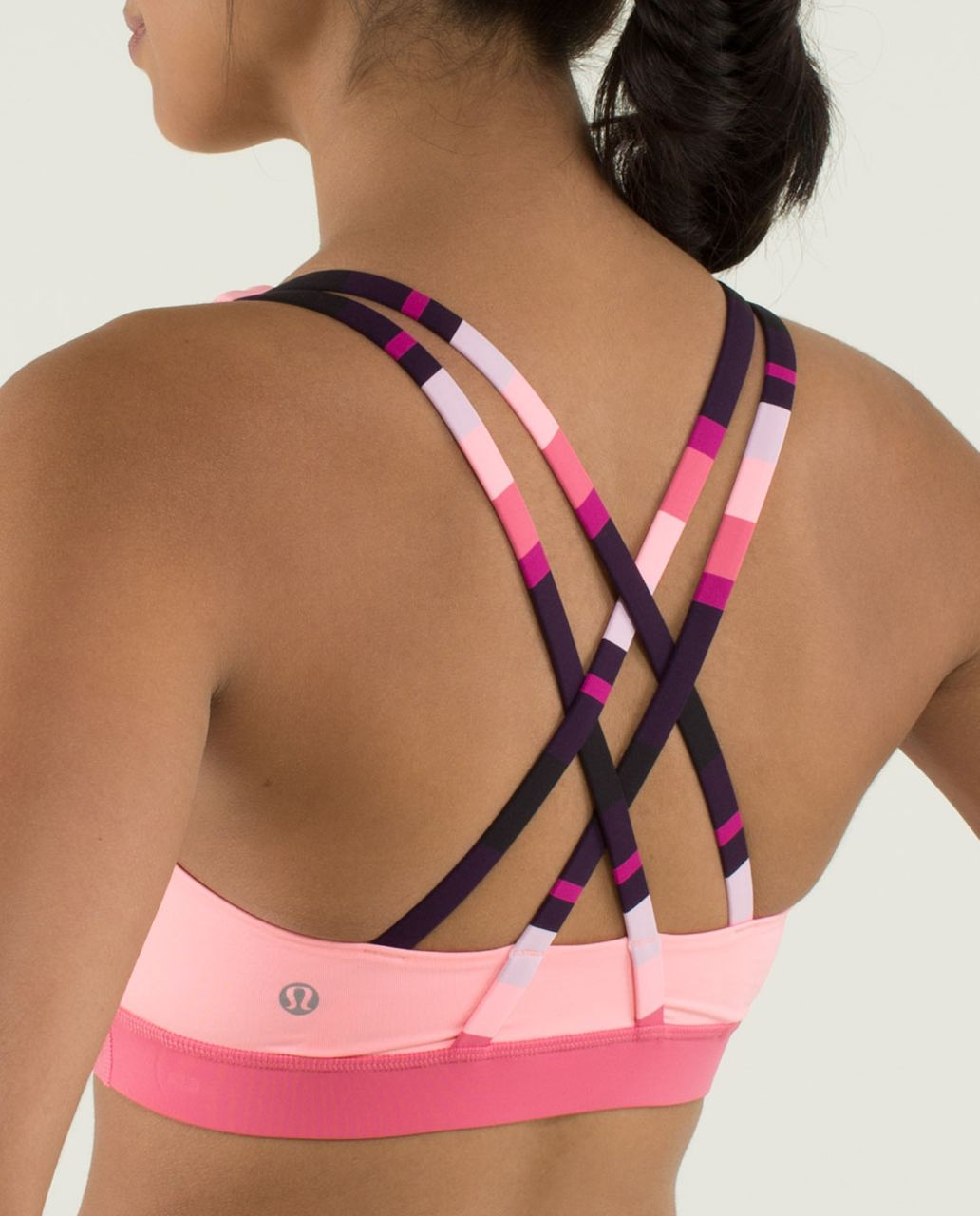 Lululemon Energy Bra - Bleached Coral / Guava Lava / Assorted Stripe Bleached Coral