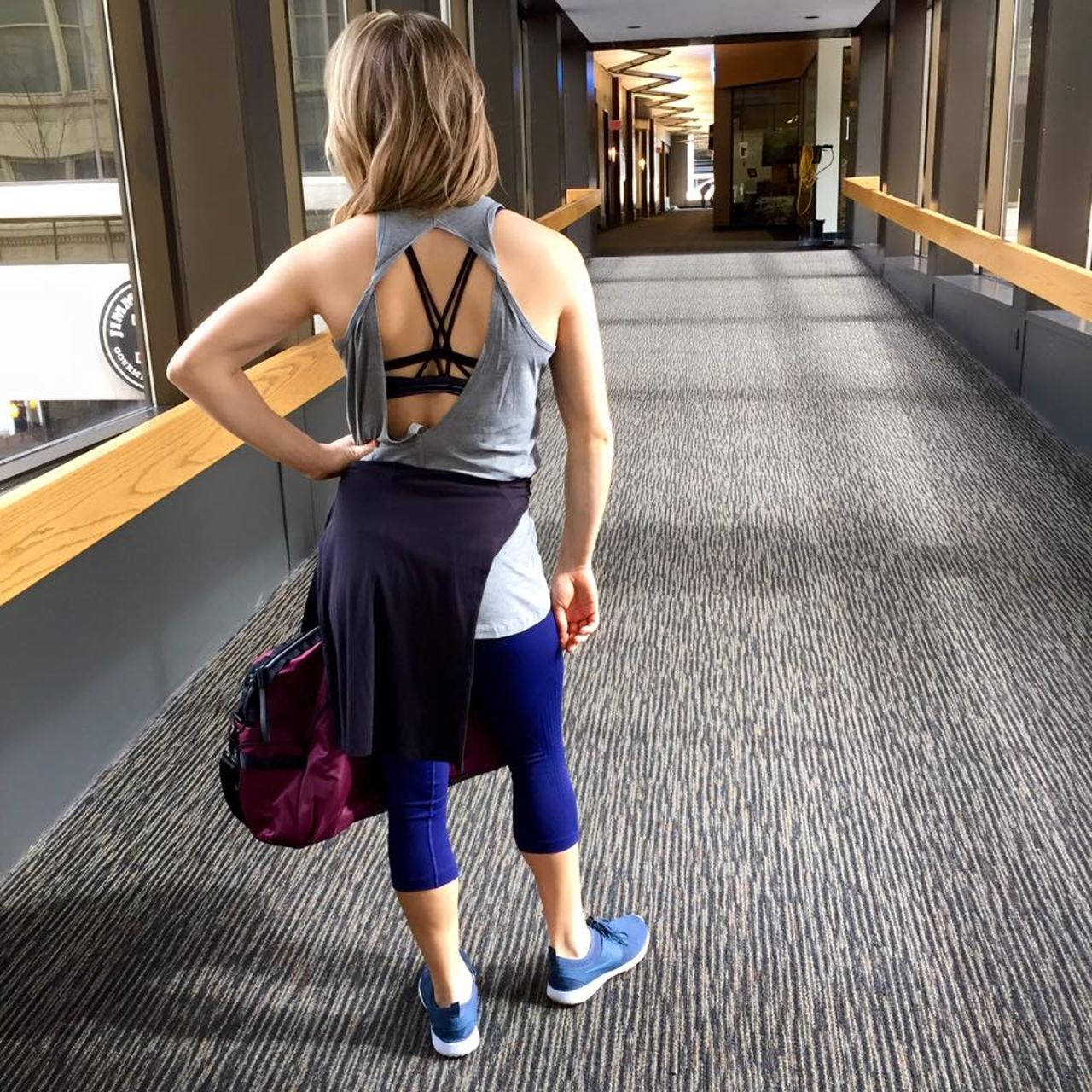 Lululemon Flow & Go Crop - Hero Blue