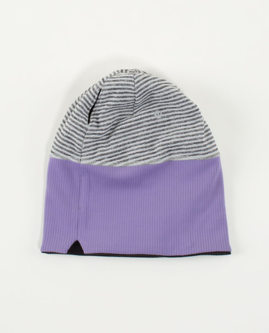 Lululemon Run With Me Toque - Mini Check Pique Heathered Black White