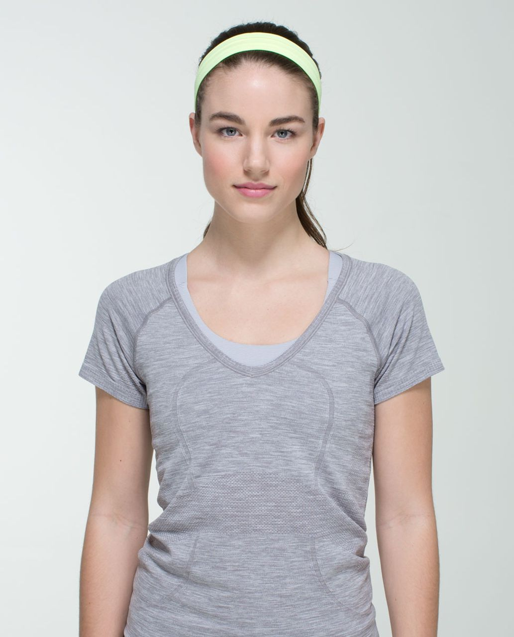 Lululemon Swiftly Headband - Heathered Clear Mint