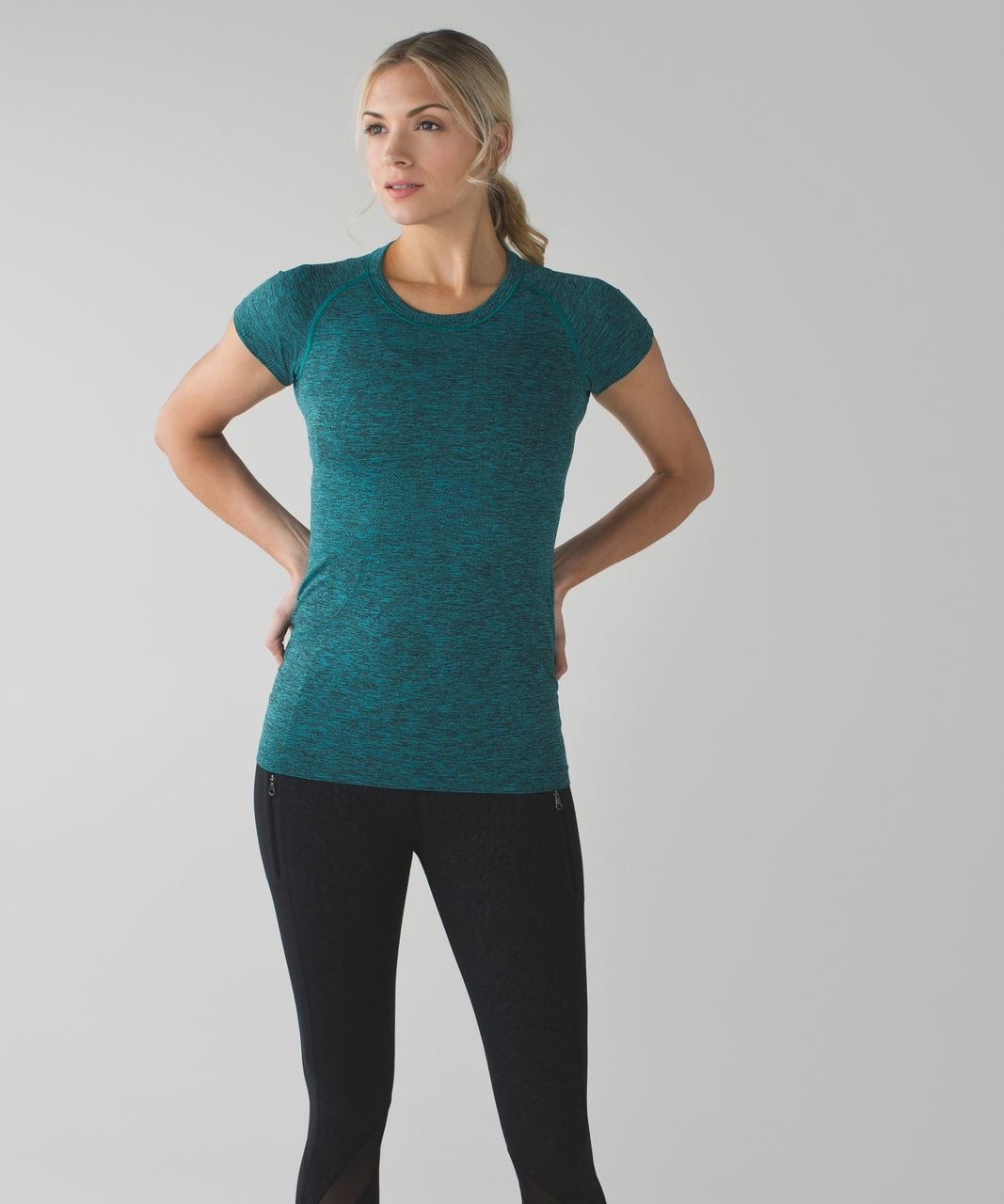 Lululemon Swiftly Tech Short Sleeve Crew - Heathered Peacock