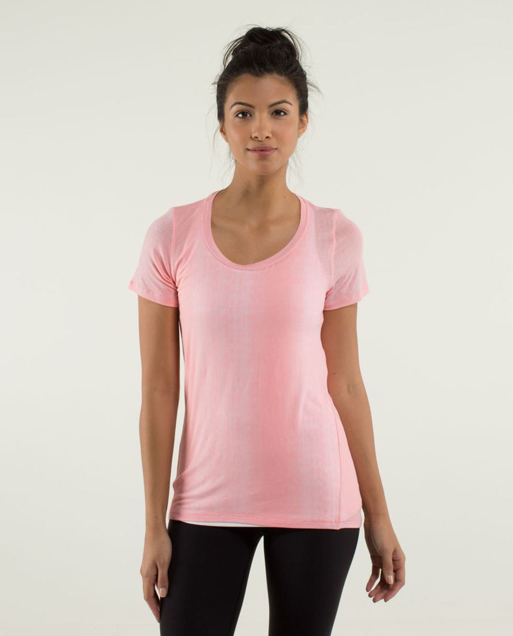 Lululemon Just Be Short Sleeve Tee - Misty Stripe Burnout Bleached Coral