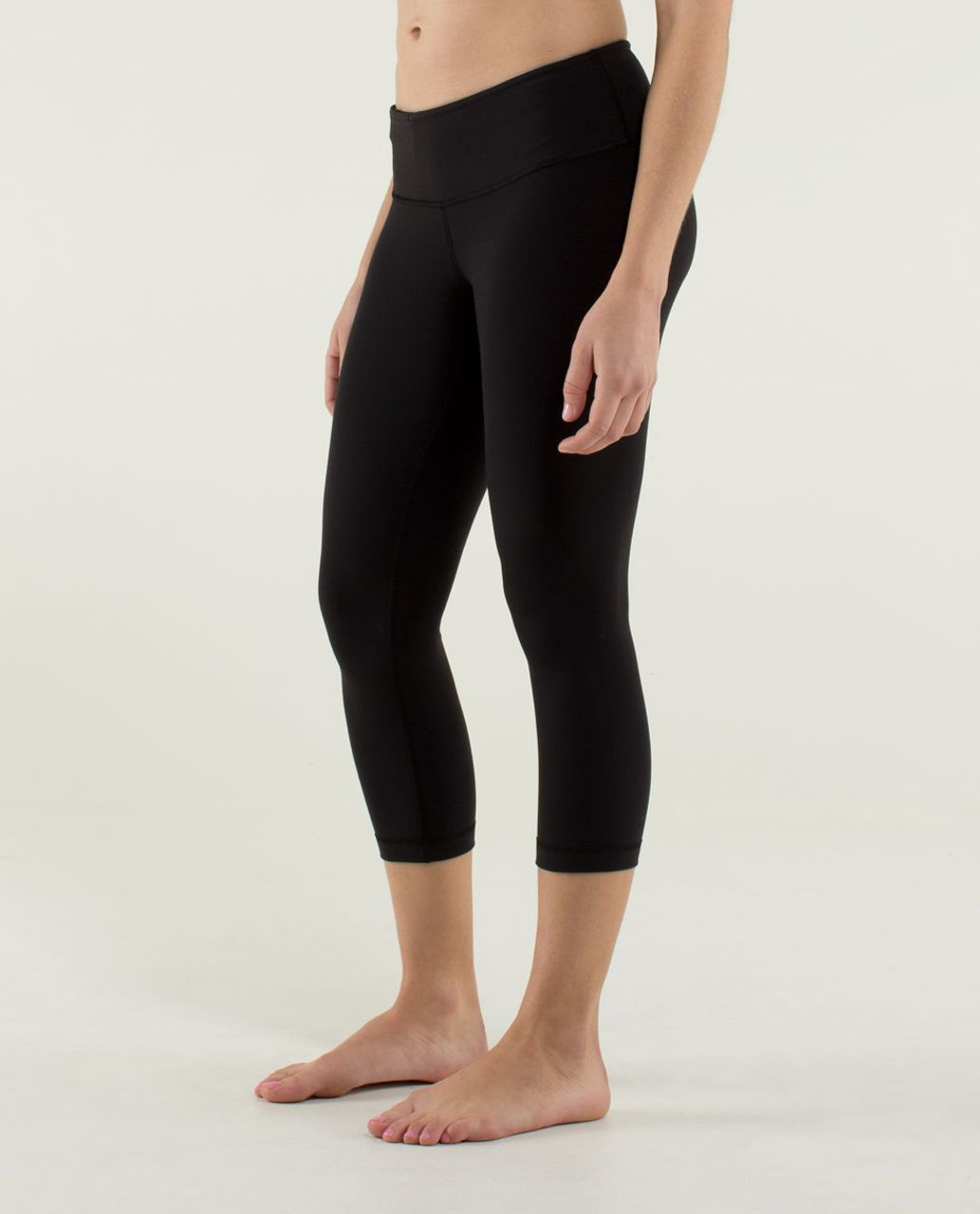 Lululemon Wunder Under Crop - Black / Quilt 14 Fall 2013