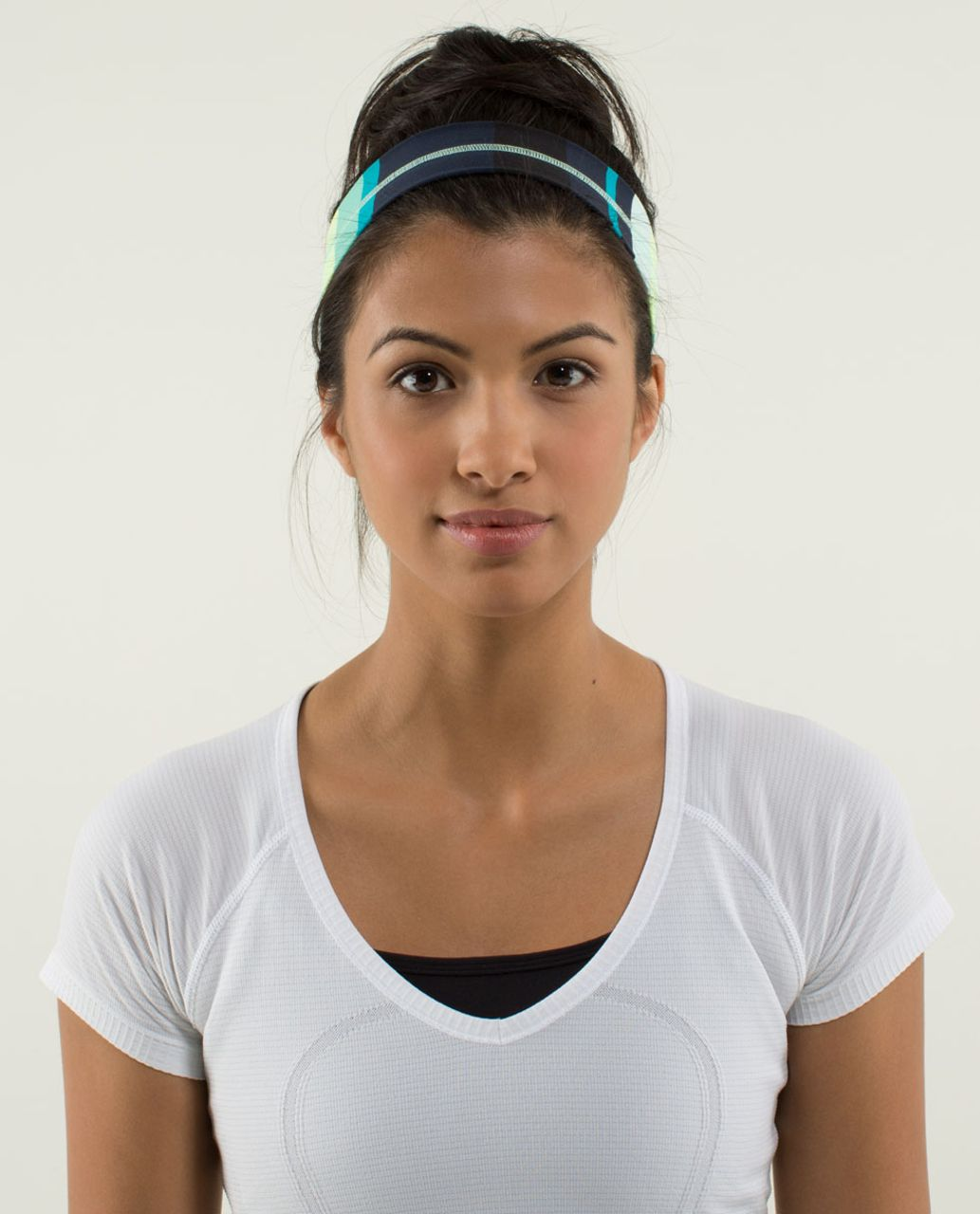 Lululemon Fly Away Tamer Headband - Assorted Stripe Surge