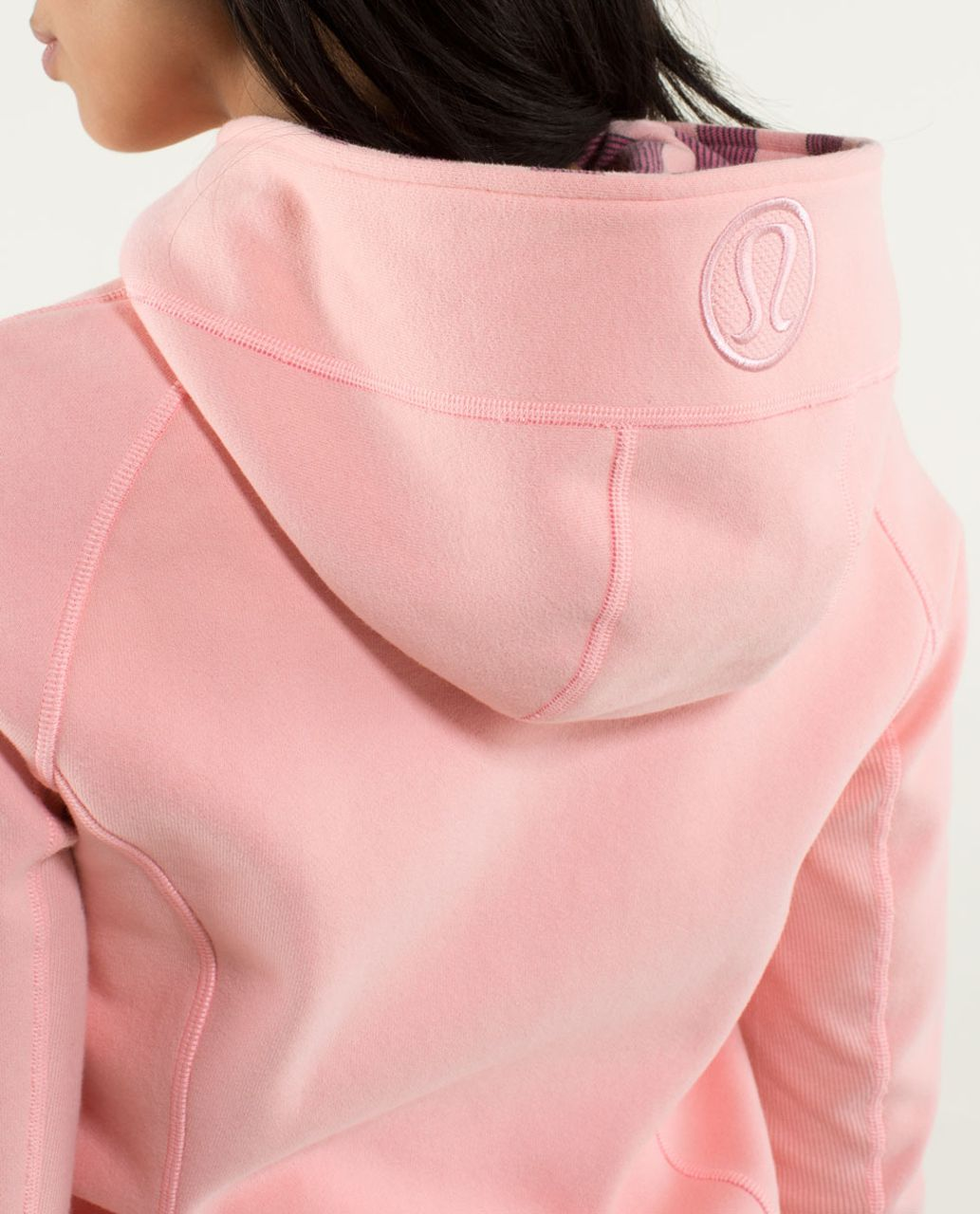 Lululemon Scuba Hoodie *Stretch (Lined Hood) - Coral / Guava Lava / Micro Macro Stripe Bleached Coral