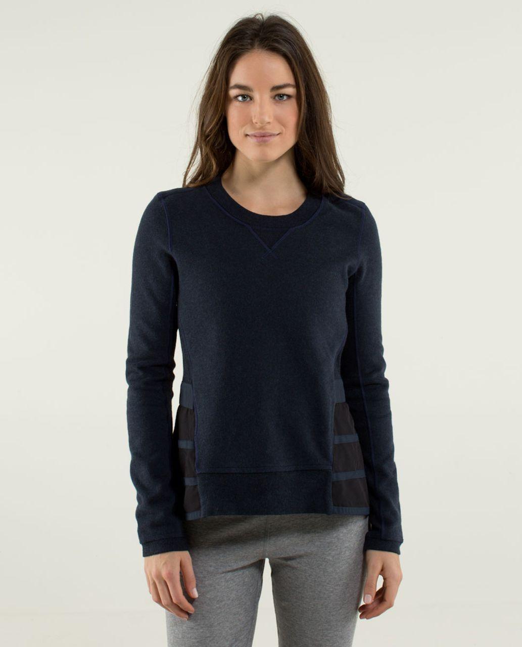 Lululemon Ruffled Up Pullover - Heathered Inkwell / Inkwell