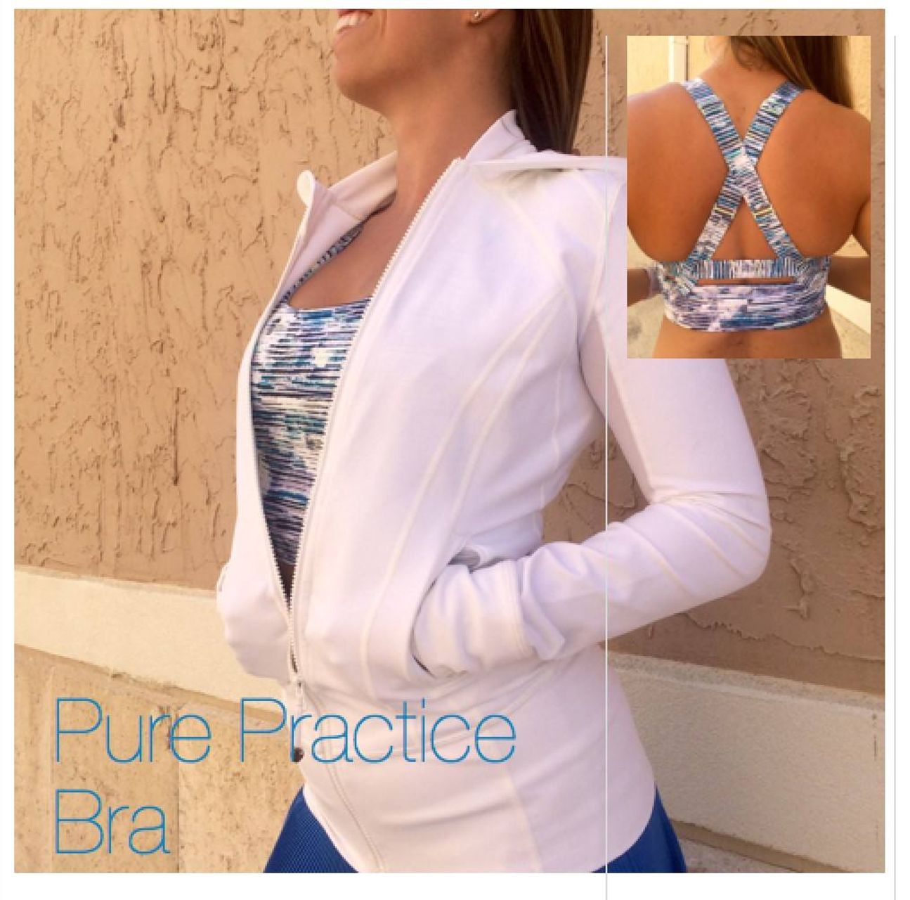 Lululemon Pure Practice Bra - Blurry Belle Multi / Sea Mist