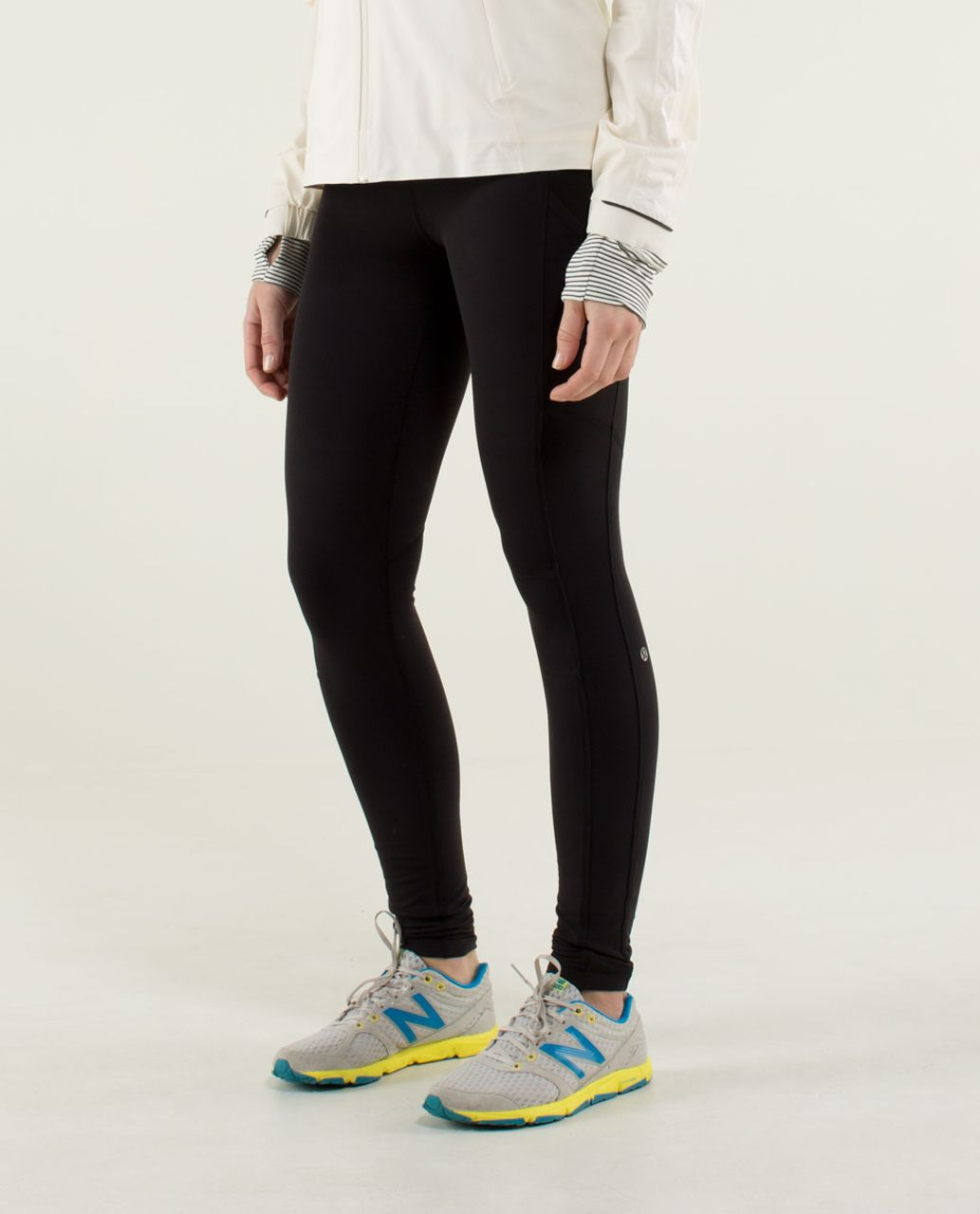 Lululemon Speed Tight *Tech - Black / Assorted Stripe Surge