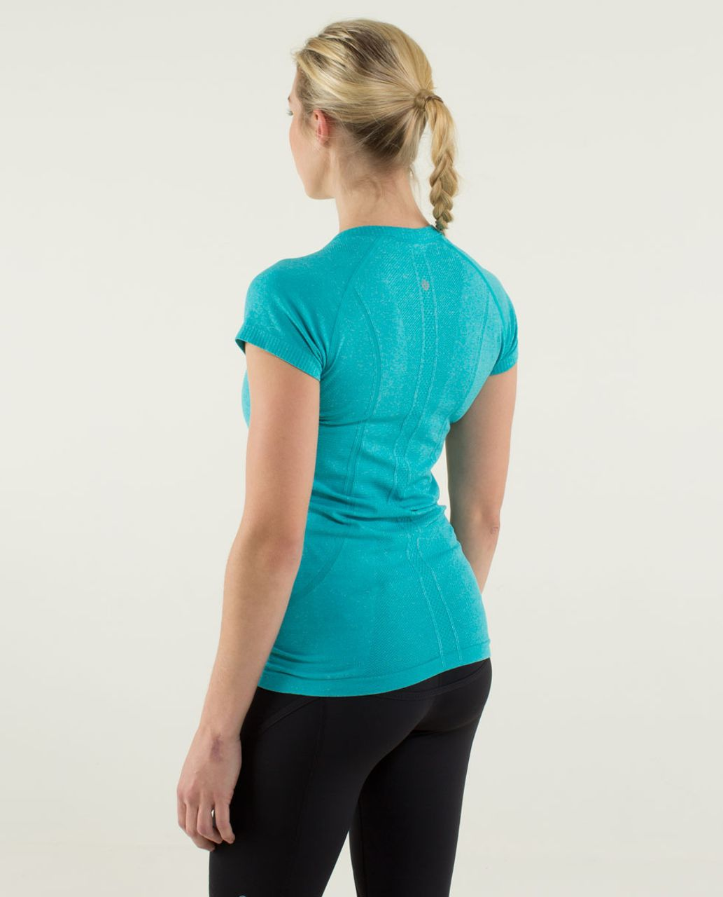 Lululemon Run:  Swiftly Tech Short Sleeve - Heathered Surge