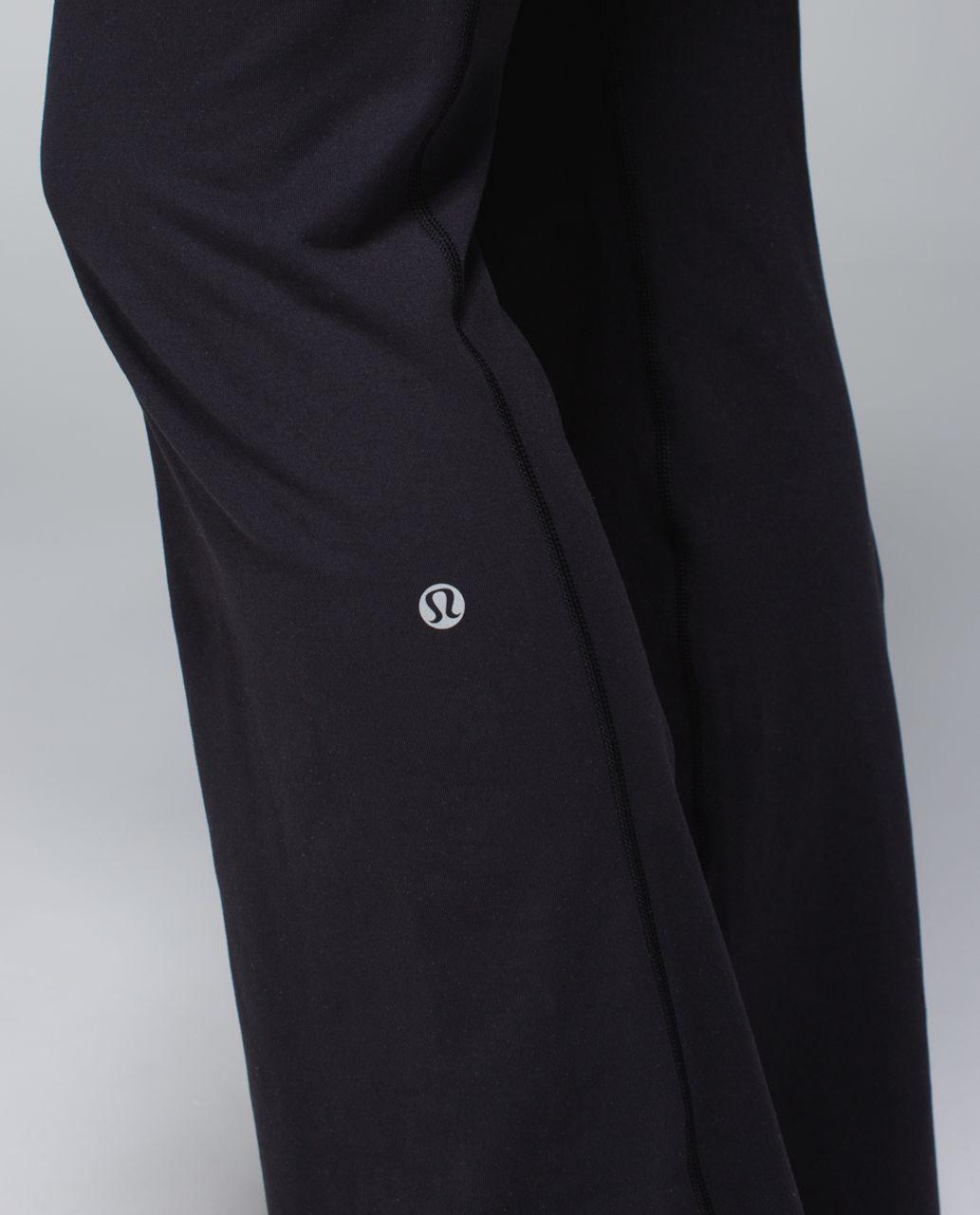 Lululemon Groove Pant (Regular) *Full-On Luon - Black / Quilt Winter 13-07