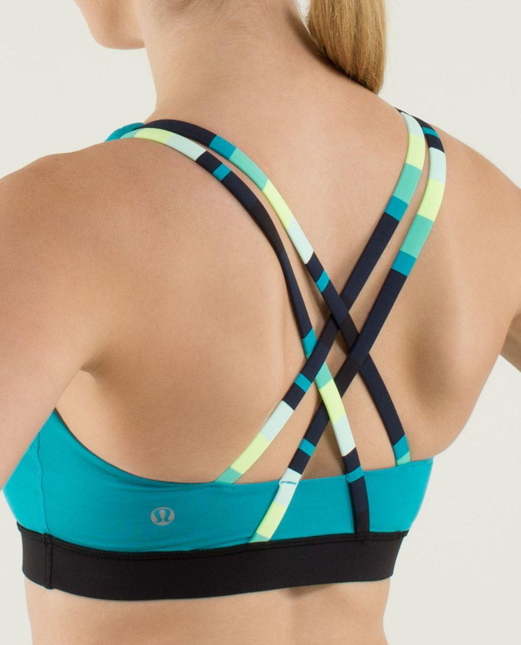 Lululemon Energy Bra - Surge / Black / Assorted Stripe Surge