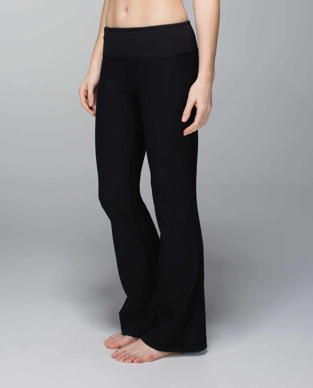 Lululemon Groove Pant (Tall) *Full-On Luon - Black / Quilt Winter 13-07