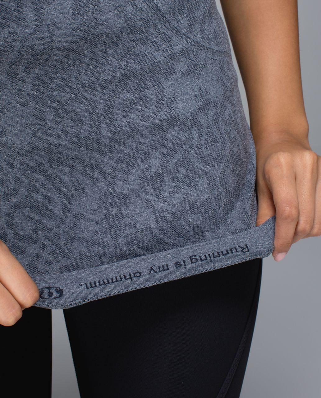 Lululemon Run:  Swiftly Tech Short Sleeve *Print - Heathered Inkwell