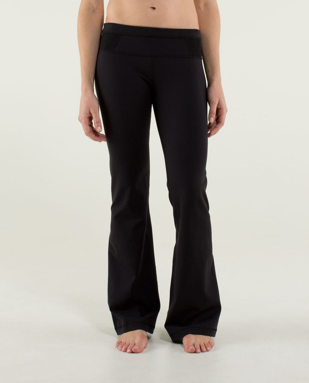 Lululemon Groove Pant (Regular) *Lace - Black / Lacemesh