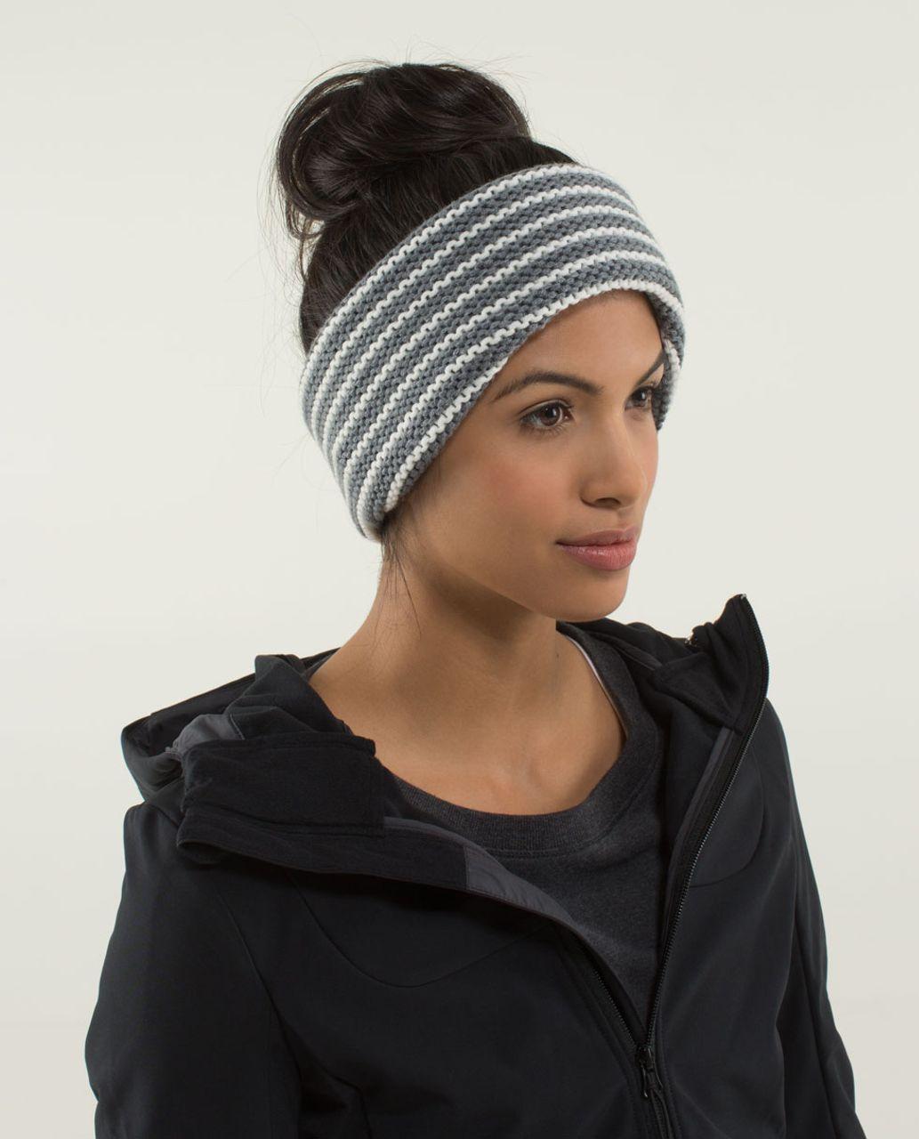 Lululemon Keepin  It Cozy Ear Warmer - Heathered Medium Grey   Angel ... f6f00d240467
