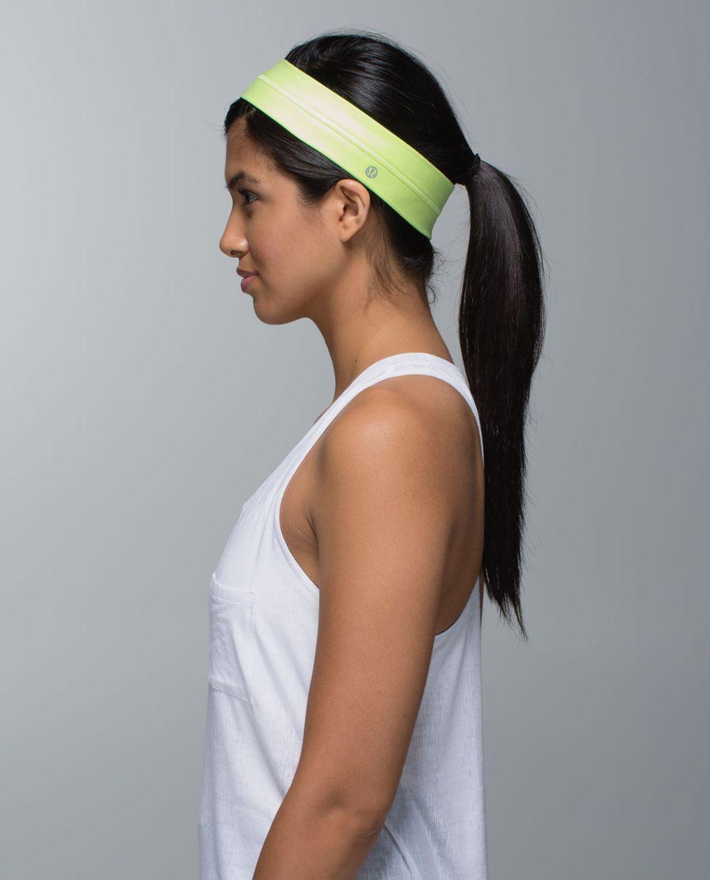 Lululemon Fly Away Tamer Headband - Clear Mint