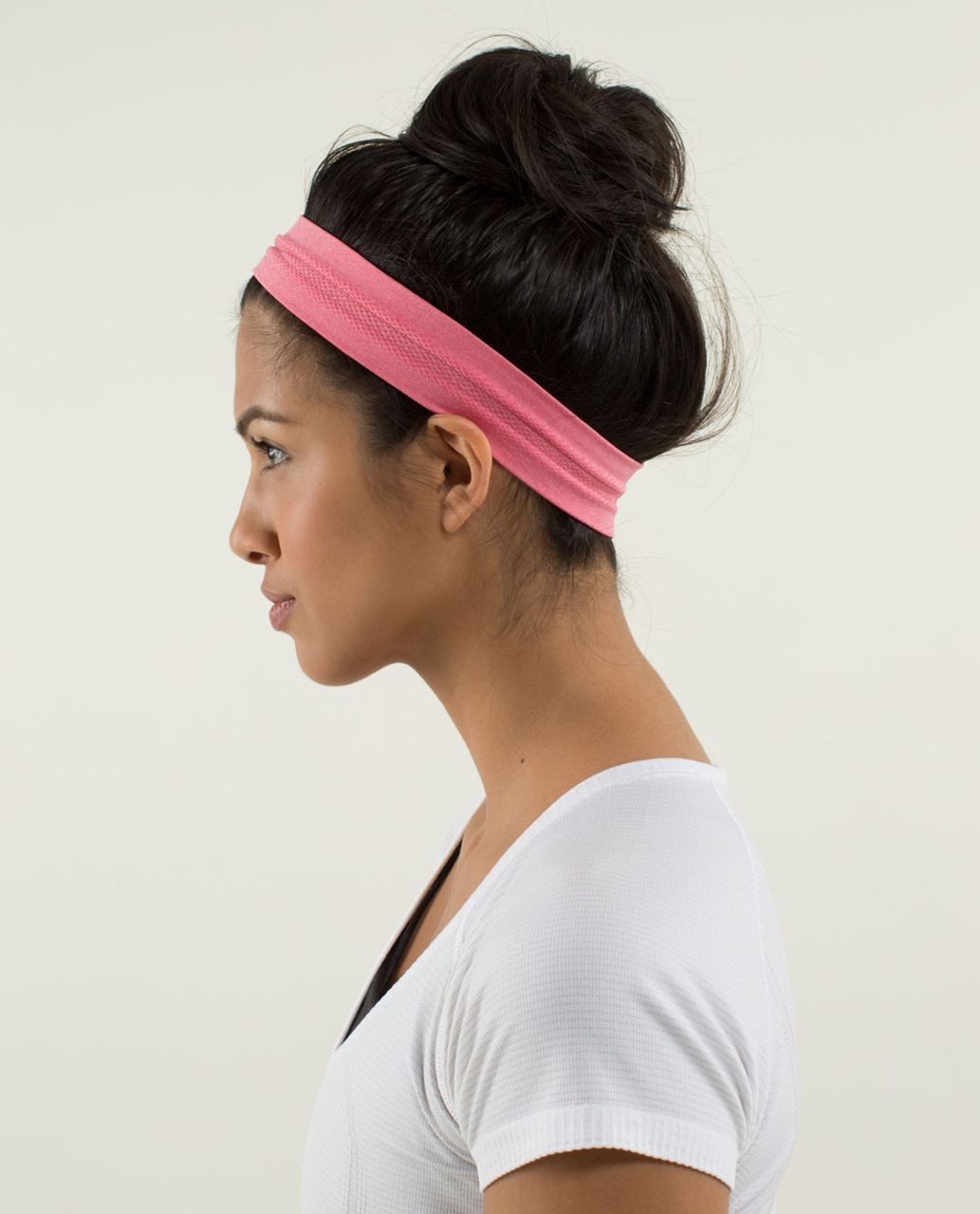 1b3a86fb Lululemon Swiftly Headband - Heathered Guava Lava - lulu fanatics