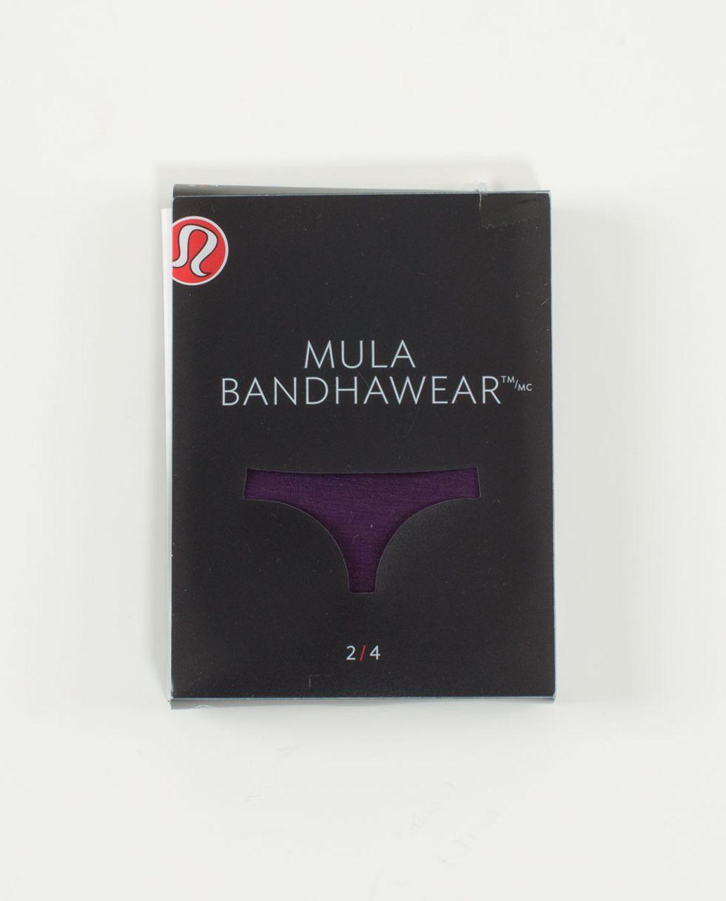 Lululemon Mula Bandhawear Thong - Deep Zinfandel / Black