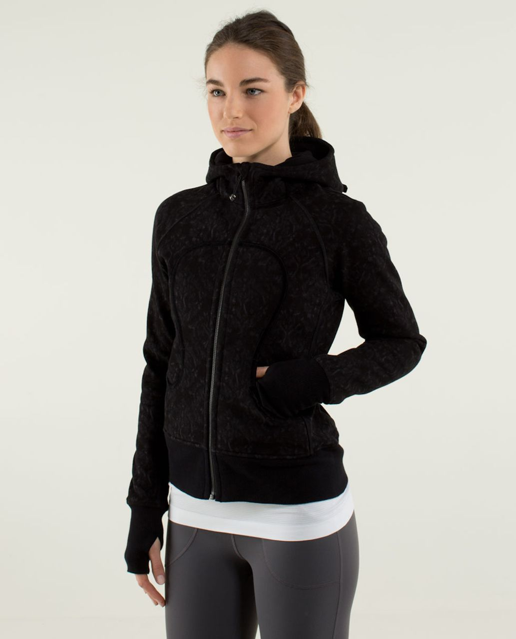 Lululemon Scuba Hoodie *Bow - Beautiful Baroque Black / Black / Beautiful Baroque Black / Black