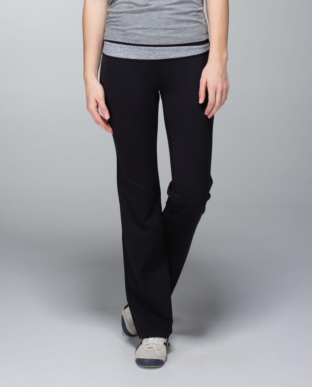 Lululemon Astro Pant (Regular) *Full-On Luon - Black / White / Heathered Herringbone Heathered Black White