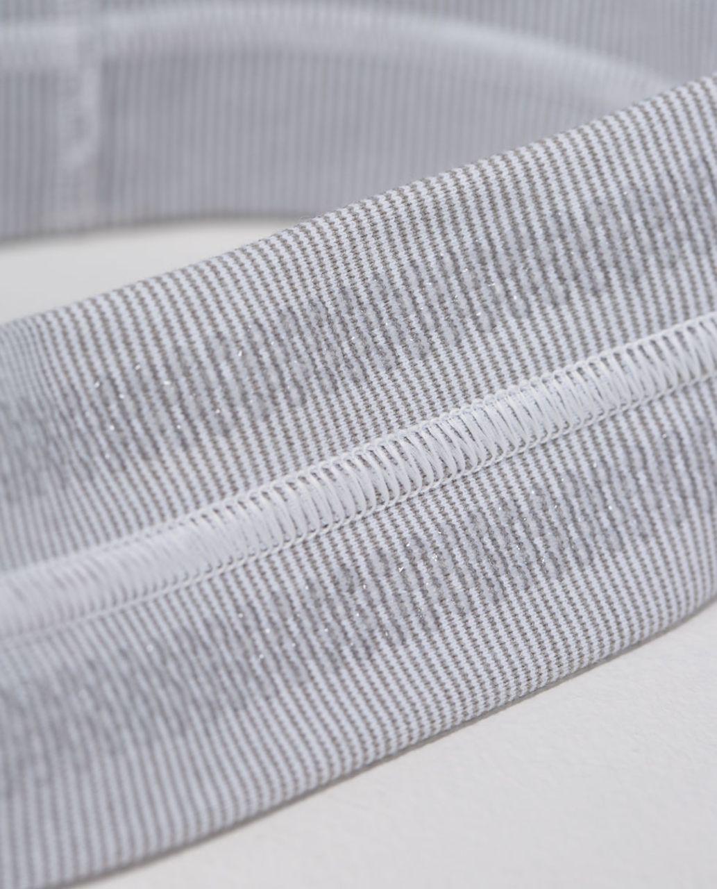 Lululemon Fly Away Tamer Headband - Wee Stripe White Heathered Medium Grey