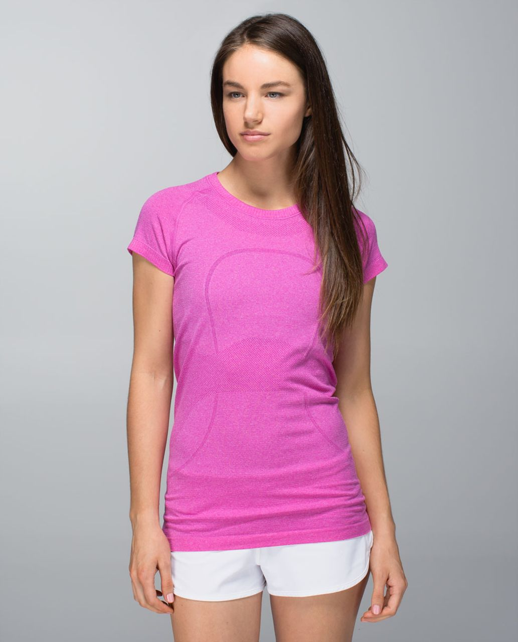 Lululemon Run:  Swiftly Tech Short Sleeve - Heathered Paris Perfection