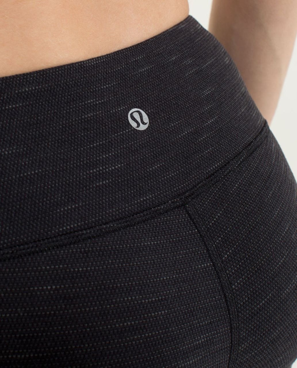 Lululemon Wunder Under Crop - Pique Luon Black / Black