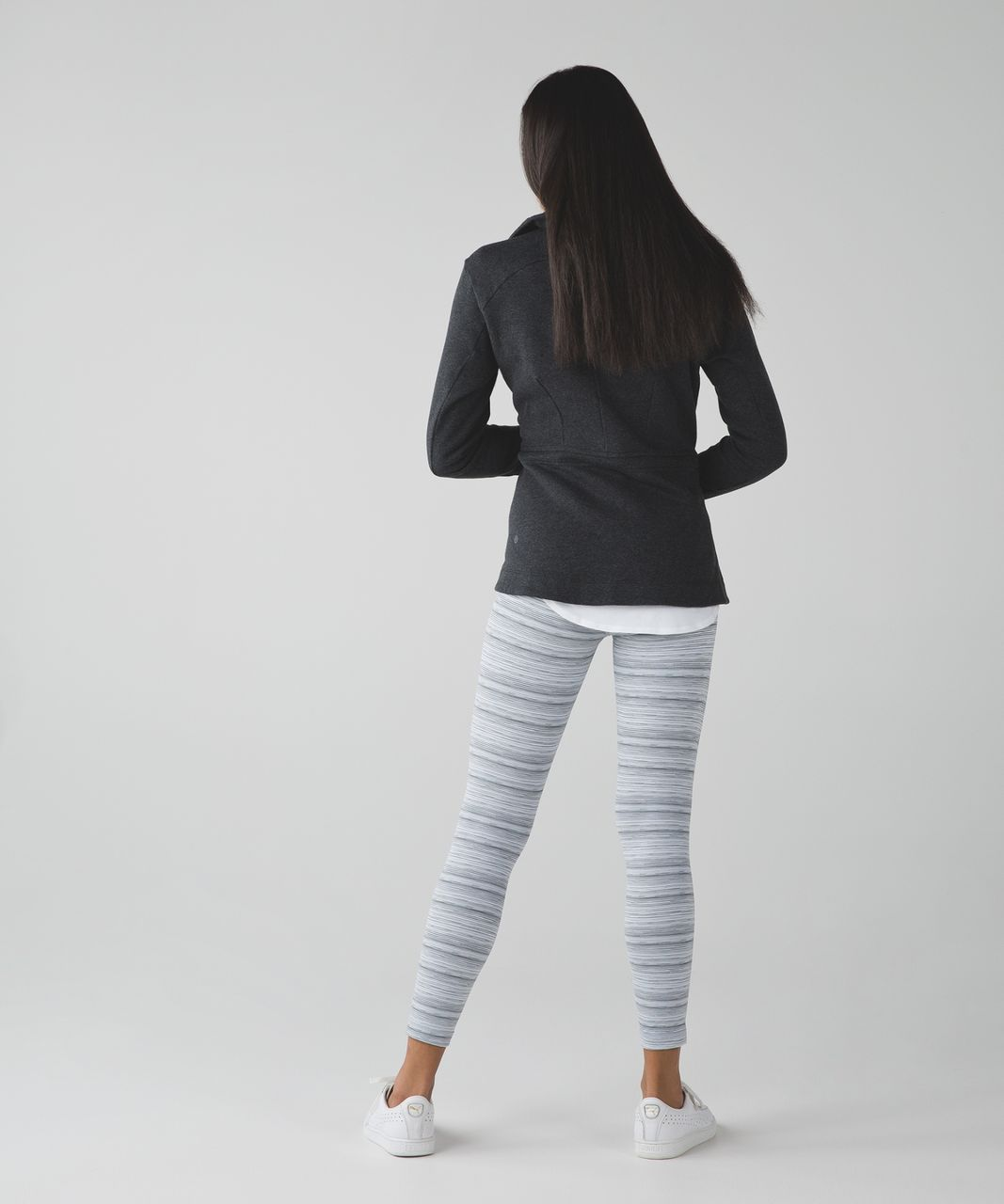 Lululemon High Times Pant *Luxtreme - Cyber Stripe White Silver Fox