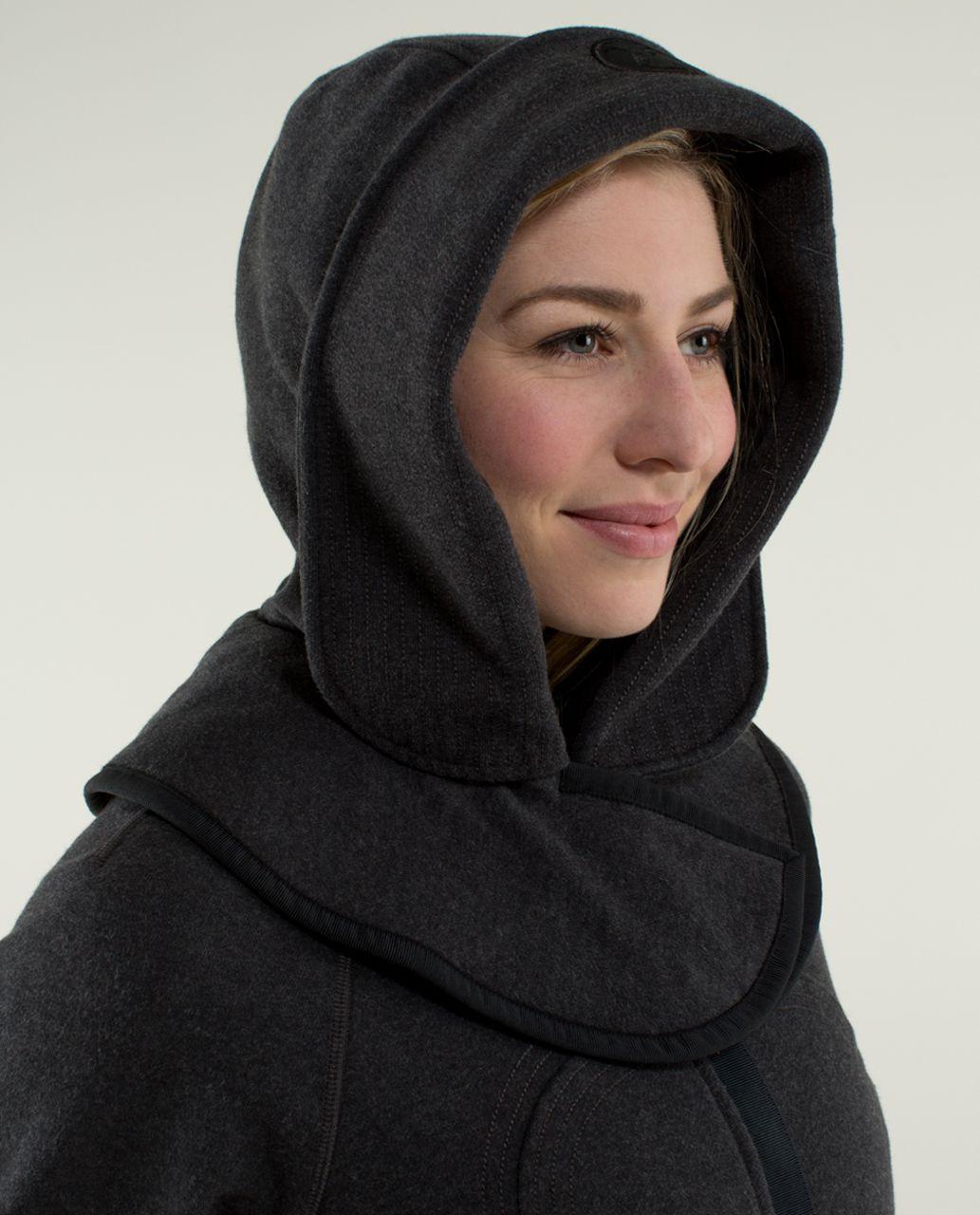 Lululemon Scuba Hoodie *Detachable Hood - Heathered Black / Soot Light / Black / Black / Black