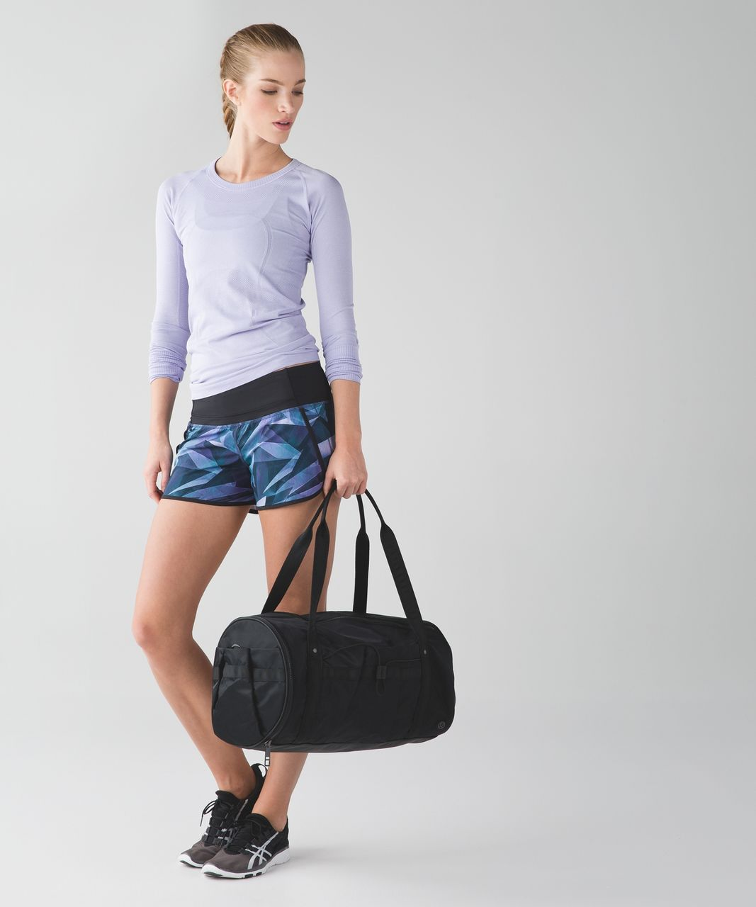 Lululemon Run Times Short *4-way Stretch - Pretty Prism Multi / Black