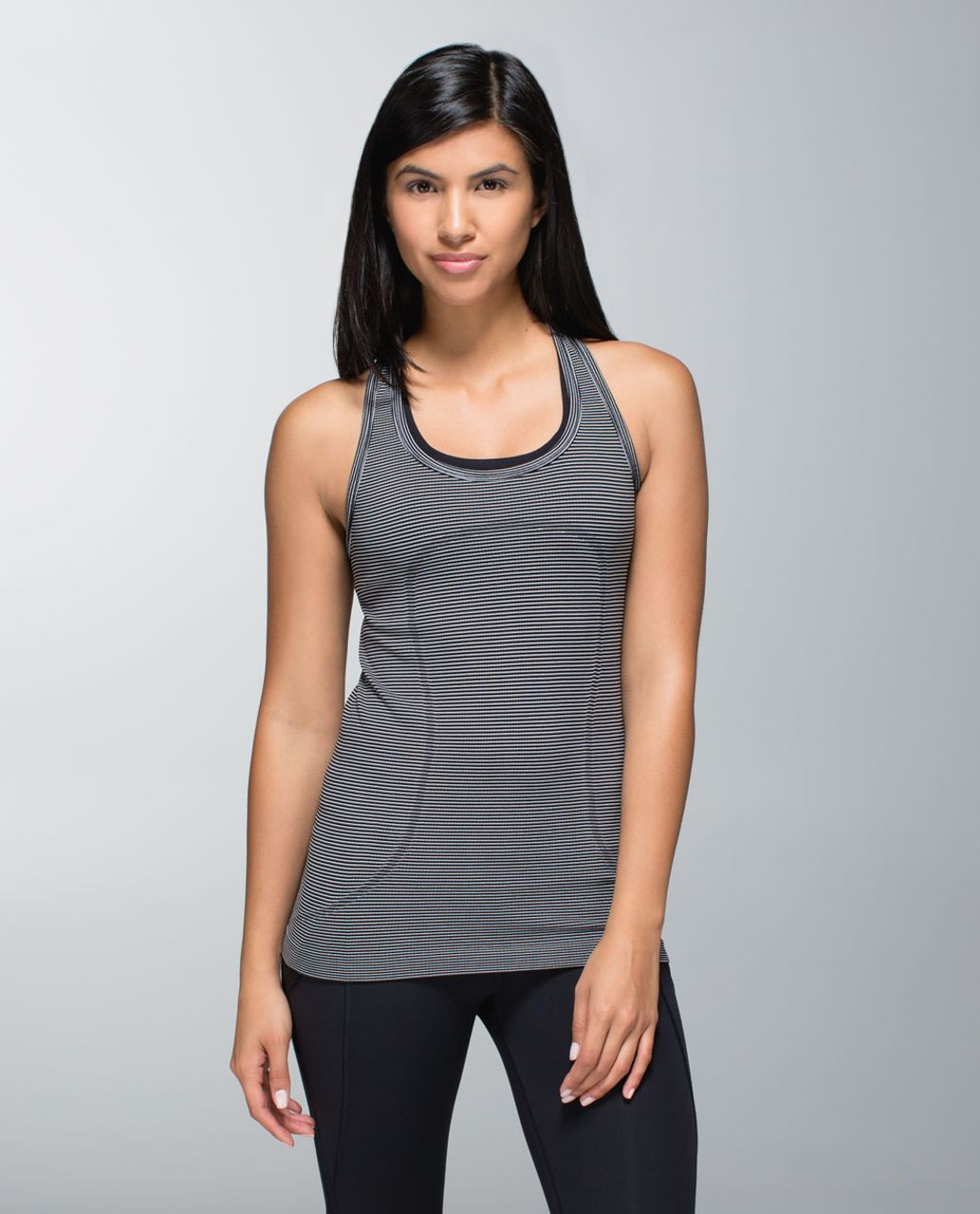 Lululemon Run:  Swiftly Tech Racerback *Stripe - Black