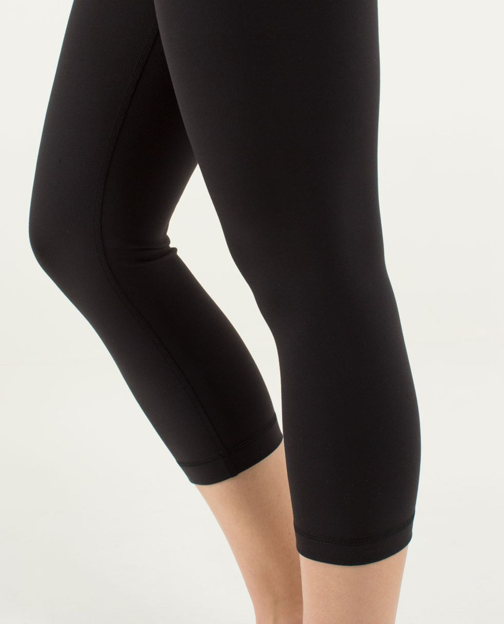 Lululemon Wunder Under Crop *Full-On Luon - Black / Assorted Stripe Bleached Coral
