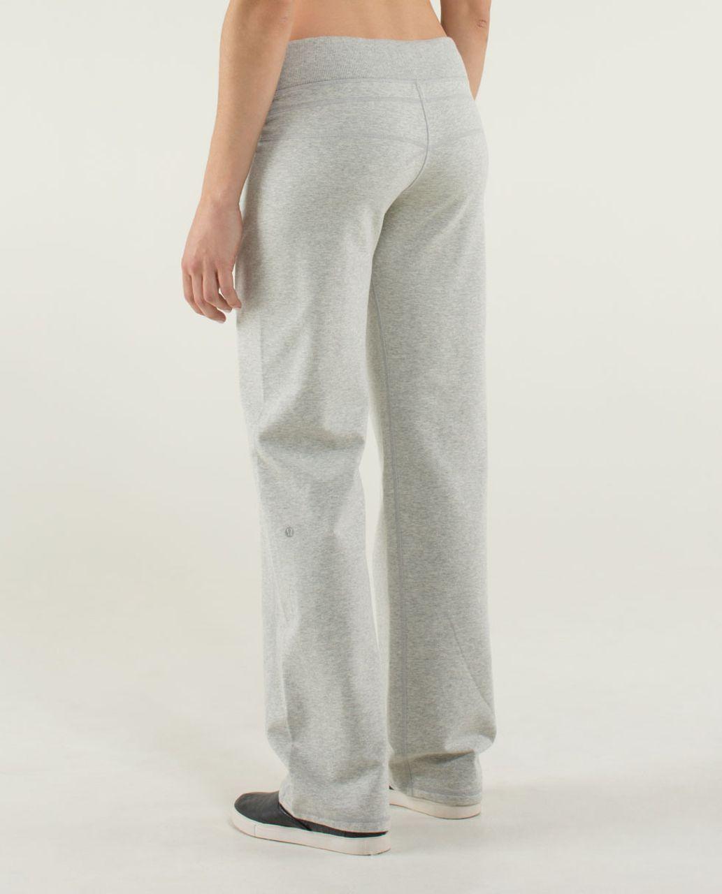 1ca0b97427 Lululemon Calm & Cozy Pant - Heathered Light Grey - lulu fanatics