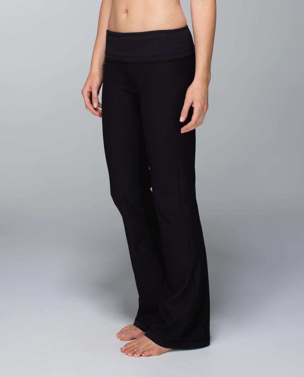 Lululemon Groove Pant (Tall) *Full-On Luon - Black / Quilt Winter 13-12