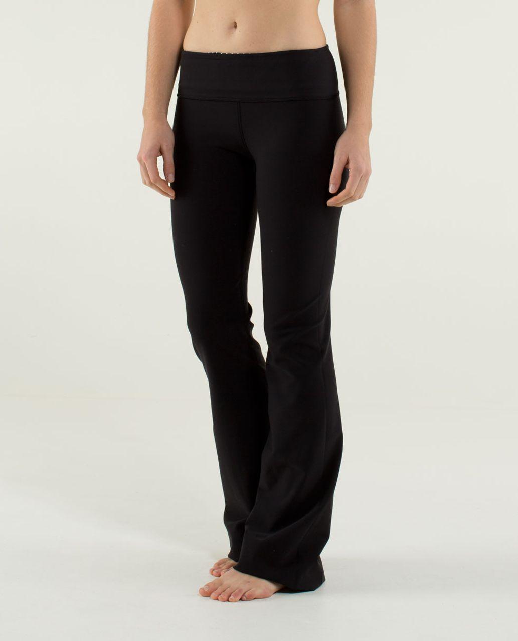 Lululemon Groove Pant (Tall) *Full-On Luon - Black / Quilt Winter 13-13