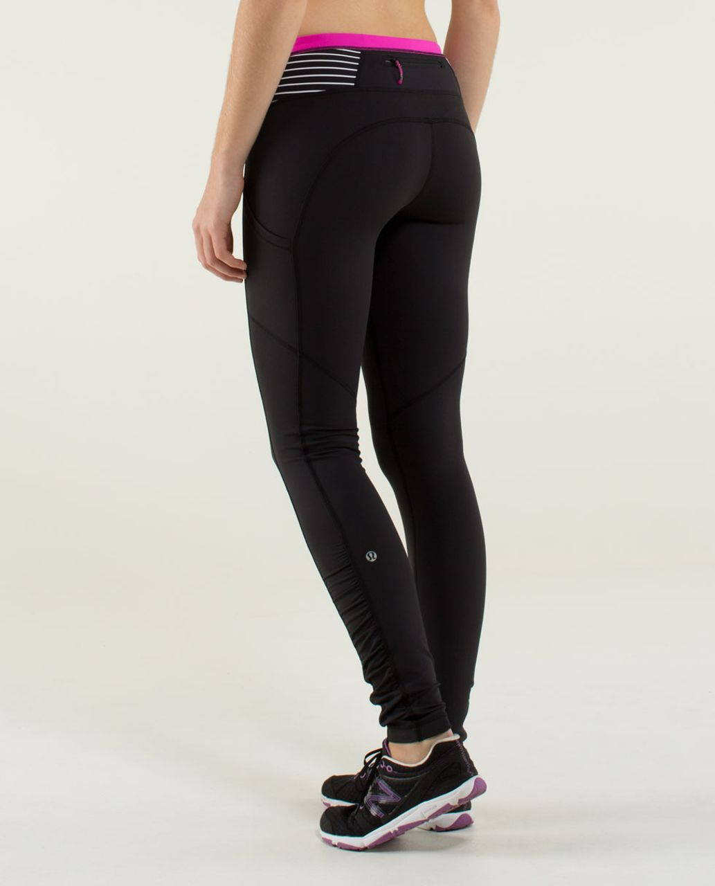 Lululemon Speed Tight *Brushed Interlock - Black / Quilt Winter 13-28