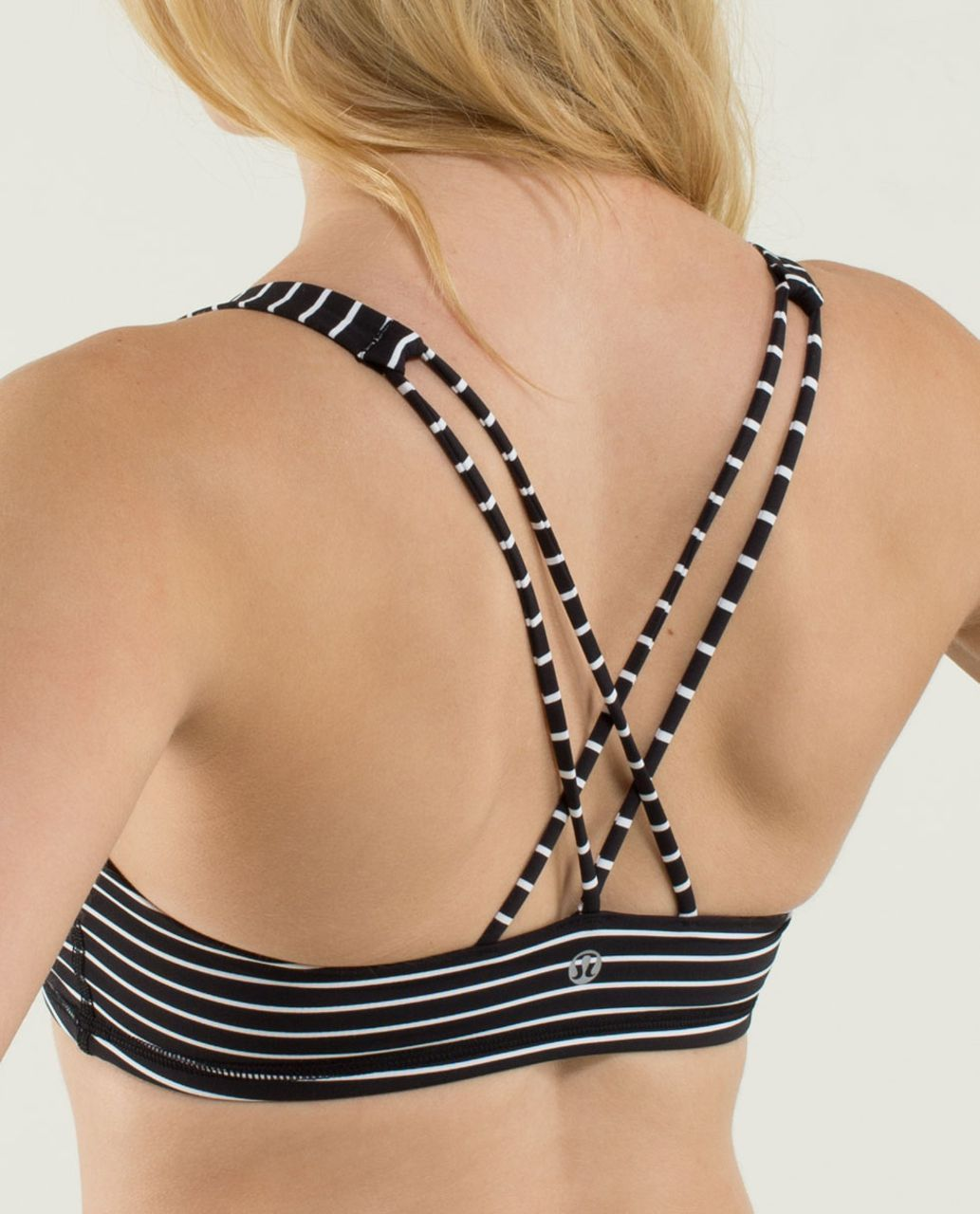 Lululemon Free To Be Bra - Parallel Stripe Black White (First Release)
