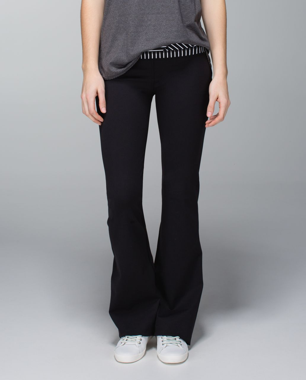 Lululemon Groove Pant (Regular) *Full-On Luon - Black / Quilt Winter 13-13
