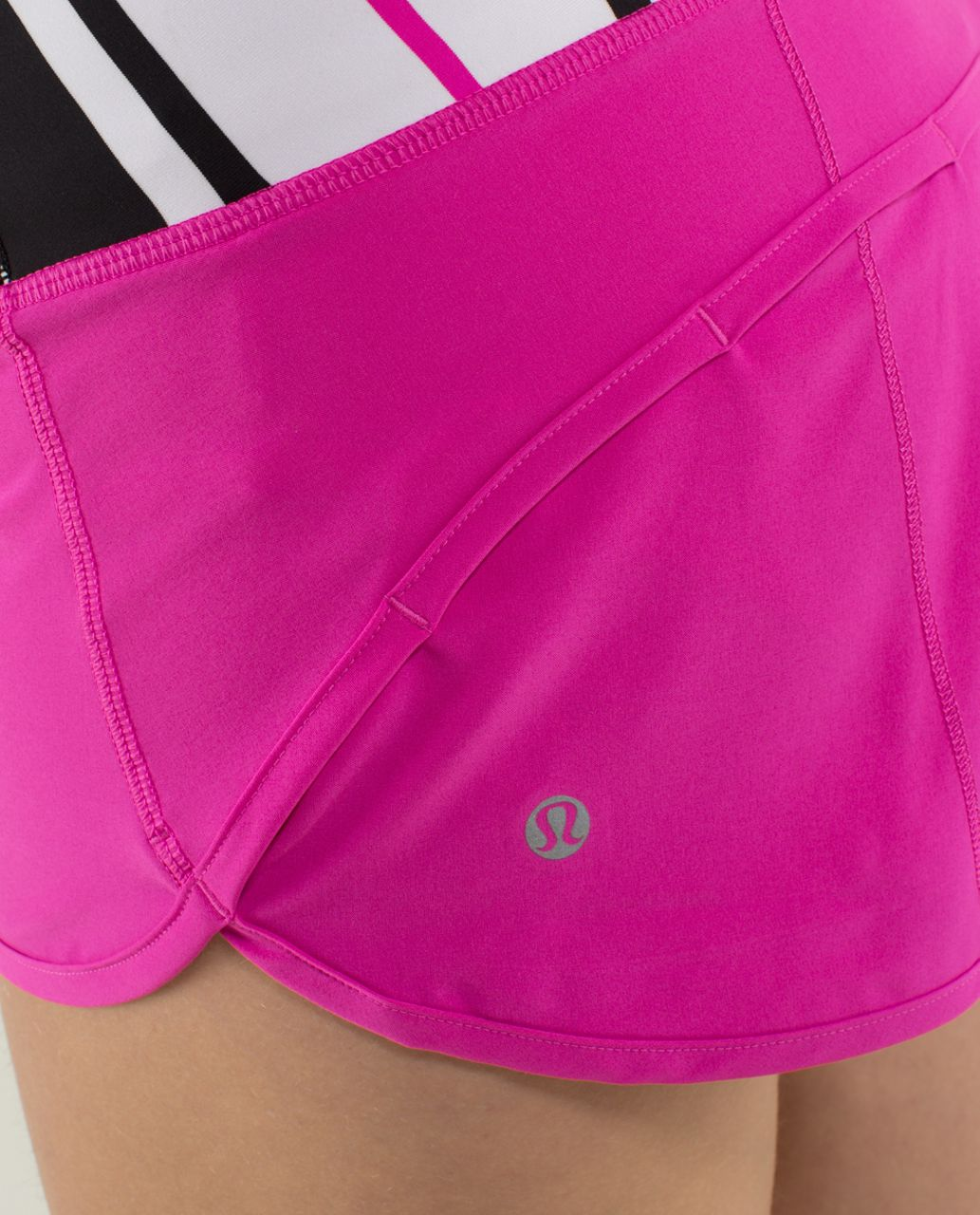 Lululemon Run:  Speed Short *4-way Stretch - Paris Perfection / Traverse Stripe Paris Perfection