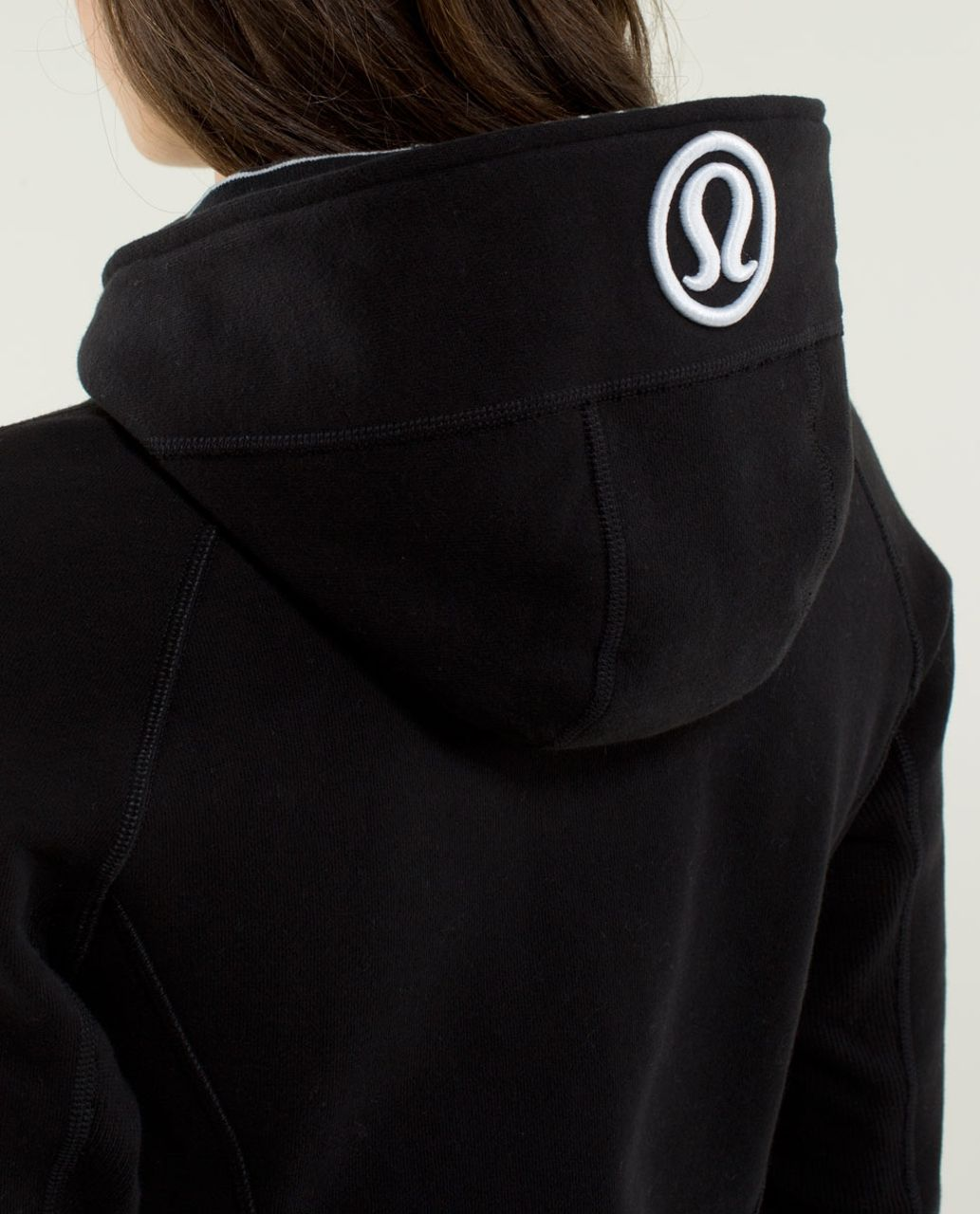 Lululemon Scuba Hoodie *Stretch (Lined Hood) - Black / Black / Parallel Stripe Black / White / Black / Parallel Stripe Blackwhite