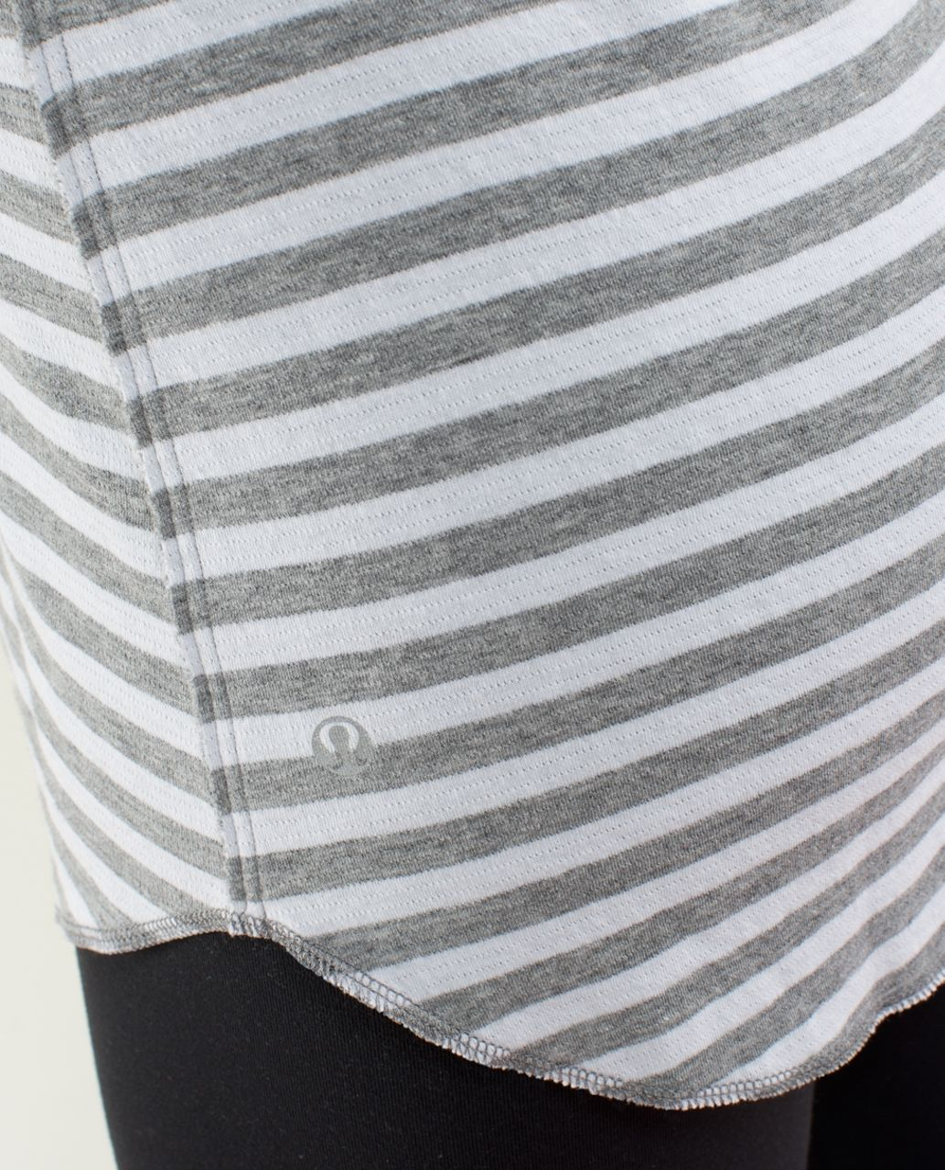 2a92f9fe09 Lululemon Open Your Heart Long Sleeve - Heathered Medium Grey / Super Wide  Load Stripe Heathered