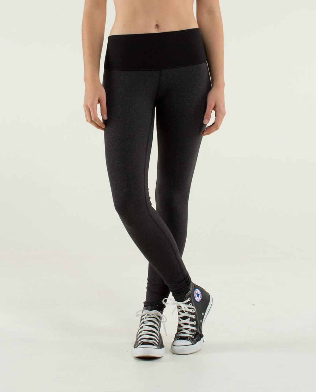 f364527aad Lululemon Wunder Under Pant *High/Low - Wee Stripe Black Heathered Black /  Black - lulu fanatics
