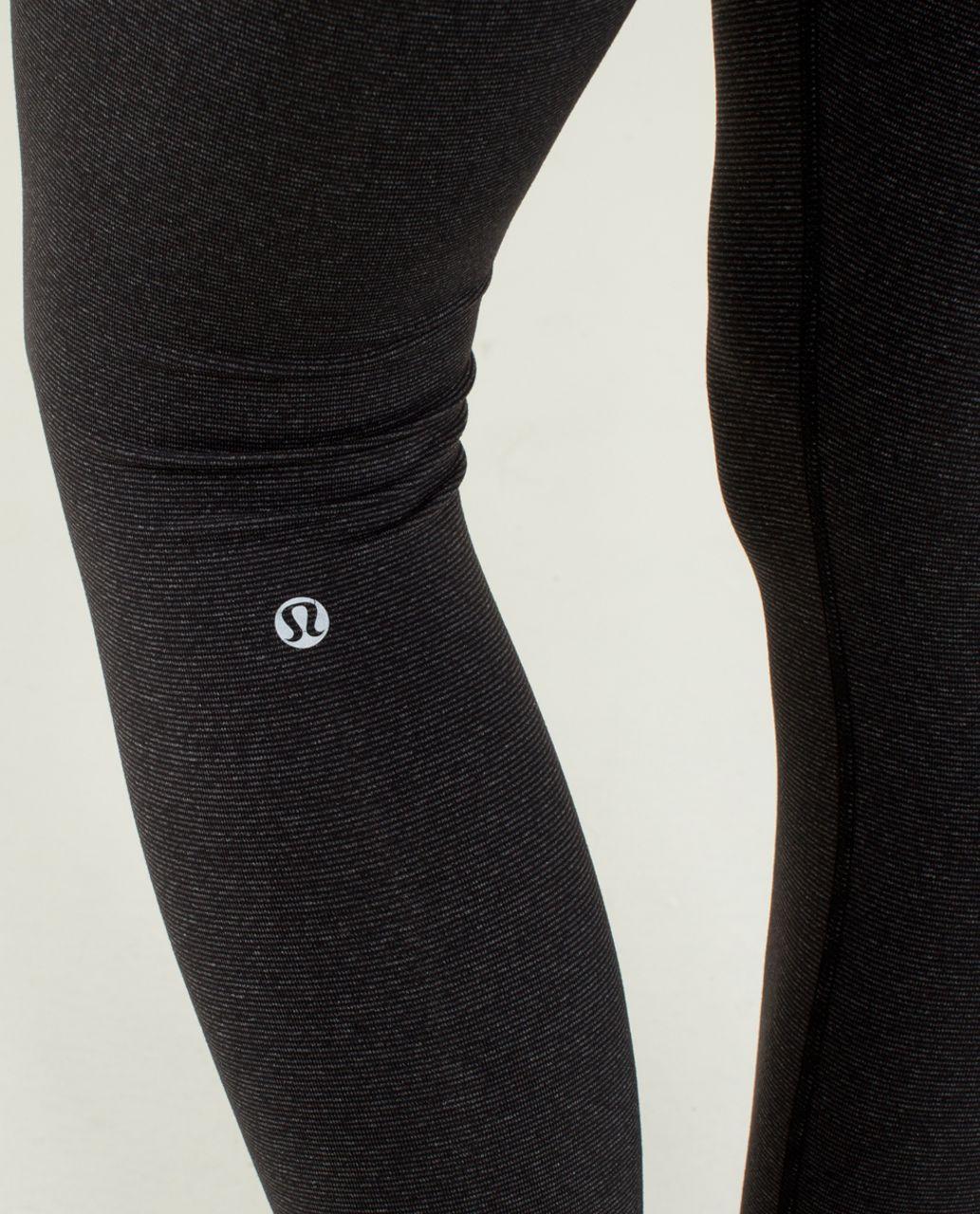Lululemon Wunder Under Pant *High/Low - Wee Stripe Black Heathered Black /  Black