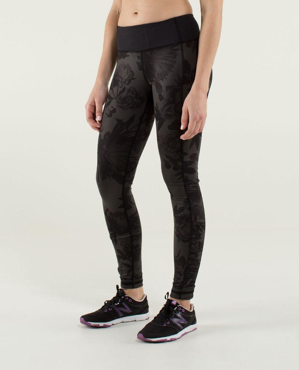 Lululemon Speed Tight *Luxtreme - Brisk Bloom Black Soot / Black