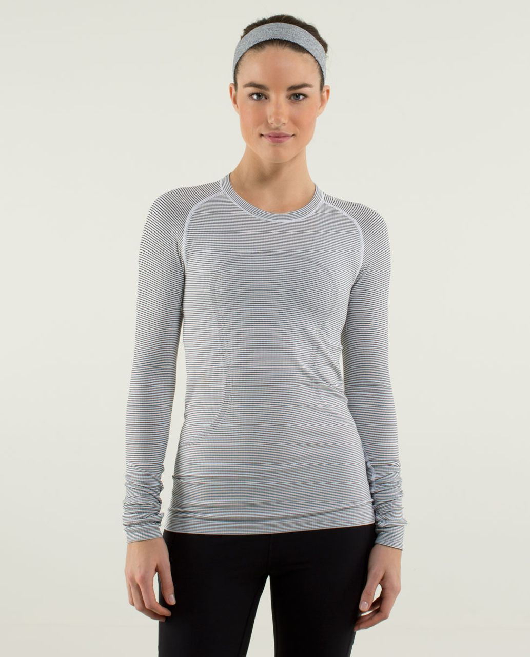 e0462aa9b1e76 Lululemon Run  Swiftly Tech Long Sleeve  Stripe - White - lulu fanatics
