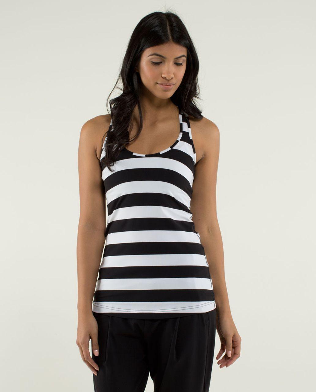 Lululemon Cool Racerback - Straightup Stripe Black White