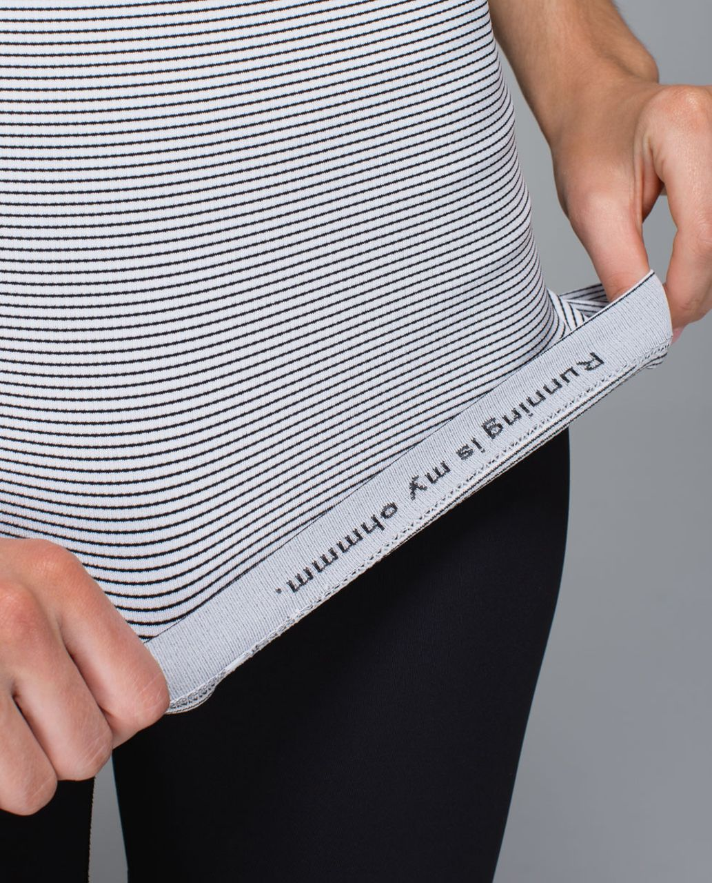 Lululemon Run:  Swiftly Tech Short Sleeve *Stripe - White